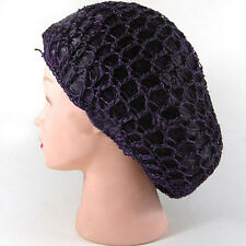 Handsome Women Lady Rayon Snood Hair Net Crochet Hairnet Knit Hat Cap Headbands
