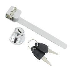 Metal Ratchet Bar Sliding Glass Showcase Display Cabinet Door Lock with 2 Keys