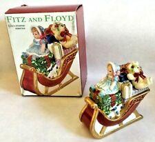 Fritz and Floyd Teddy's Christmas Lidded Box Sleigh Holiday Santa