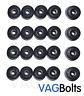 Genuine VW Wheel Nut Bolt Plastic Cover Caps x20 20x Golf Passat Scirocco
