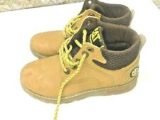 CAT Parker ESD Steel Toe Work Boots Size 33 Honey Brown Soft Men?s Cap Safety