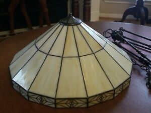 Stained Glass Mission Chandelier Dining Room Light Fixture Tiffany Style Ceiling