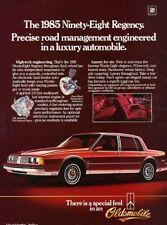 1985 Oldsmobile 98 Ninety Eight Original Advertisement Print Art Car Ad J870