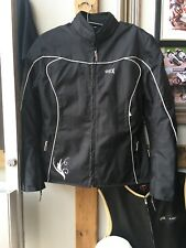 A Really Nice Ladies OSX Textile Motorcycle Biker Jacket. Size 14