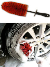 "Large 18"" Alloy Wheel Cleaning Brush Detailing Valeting Non Scratch Daytona Red"