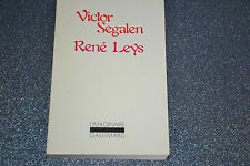 RENE LEYS/ VICTOR SEGALEN/ GALLIMARD/1978 (A8)