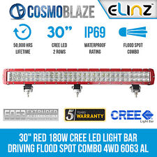 "Cosmoblaze 30"" Red CREE LED Light Bar Driving Flood Spot Combo Beam 4x4 Truck"