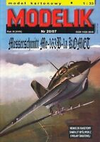 Modelik 20/07 -  Messerschmitt Me-163B-1a Komet mit Lasercutteilen   1:33