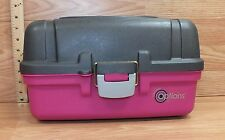 Creative Options Pink & Gray Plastic Tackle Box / Storage Container **READ**