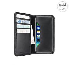 ARTWIZZ WALLET in Pelle Astuccio Borsa Custodia Guscio Nera per Samsung Galaxy s4 mini LTE