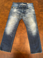DIESEL DARRON Regular Slim Tapered Blue Denim Jeans Size 30/32