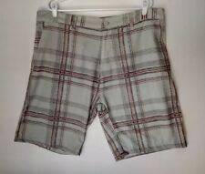 "Burnside Gray Grey Plaid Mens Board Regular Shorts Sz 40 Swim Trunks 22"" Outseam"