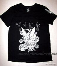 DISNEY TINKERBELL NEW Womens PLUS 16W 1X Black TINK Graphic T-Shirt Top TATTOO