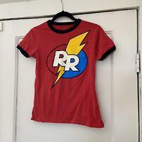 Disney Chip 'n Dale Rescue Rangers Logo Ringer T-Shirt for Women-XS-EUC