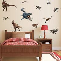 Jurassic World Wall Sticker Dinosaur Art Decals Removal Boys Room Wall Decor