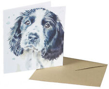 Watercolour Design Springer Spaniel Dog Blank Card for any Special Occasion