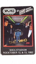 """Vintage 1982 The Who Concert WPLJ 99.5 Promo Cloth Sticker 3 1/4""""x4 3/4"""" Unused"""
