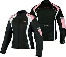Mbsmoto Motorcycle Bike Ladies Waterproof Armour Textile Touring Jacket