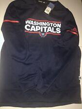 NEW Washington Capitals NHL Hockey Adidas Player Long Sleeve Pullover Large