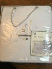 Mothercare Little Voyage 3 Part Bumper Suitable For A Cot Or Cot Bed Bnip