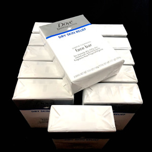 x24 Dove Derma DRY SKIN Gentle Cleansing Face Bar 2pk ea (PACK OF 12 = 24 TOTAL)