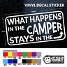 WHAT HAPPENS IN THE CAMPER STAYS IN THE CAMPER  - Funny Car/Van Vinyl Sticker