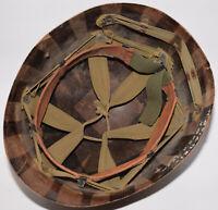 Original WWII US Military MSA M1 helmet liner + 1957 Vietnam sweatband - 1st AD