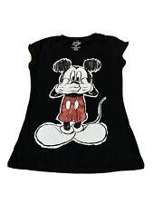 Disney T Shirt Womens Medium Black Mickey Mouse