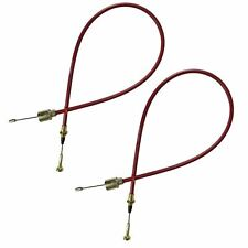 2 x Stainless Steel Trailer Brake Cables Mushroom End Outer Sheath 890mm Alko