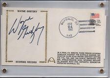 Wayne Gretzky Signed Gateway 1982 Scoring Record Cachet COA