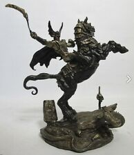 Franklin Mint Bronze Statue Nightmare's Bane by Brom Mib