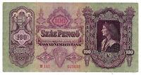Ungheria - 100 Pengo  - 1930 - cent 18 X 9  - 272  E