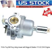 Carburetor for Troy Bilt Pony riding mower with Briggs & Stratton 17.5 I/C OHV