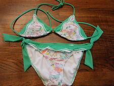Victoria's Secret Bikini Swimwear Small XS Green White NWOT Capri Marina NEW