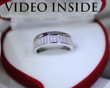 0.8CT Wedding Engagement Diamond Bands Platinum 22KT.Fine Silver Italy