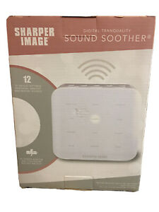 Sharper Image Digital Tranquility Sound Soother 12 Relaxing Sounds Sleep Office