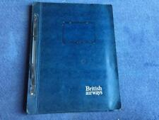 A Photocopy of British Airways Concorde Original On board Catering Manual 1976