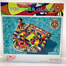 "H2OGO Huge Pop Tiger Island Pool Beach Swim Float 70"" Swimming Raft Lounger"