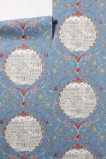 4 rolls Anthropologie RARE Mansfield Court Wallpaper Scribble Sketch birds roses