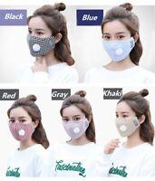 1 Masque de protection tissu coton lavable avec valve avec 2 filtres PM 2.5