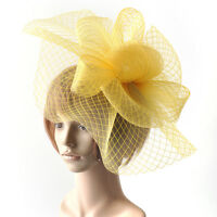lady women hair accessory clip hat large handmade veil fascinator wedding party