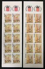 Monaco #1660b,1660c 2 Complete Booklets 1989 MNH