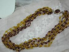 Amber Plastic Vintage Costume Jewellery
