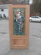 BEAUTIFUL HAND MADE VICTORIAN STYLE STAINED GLASS PEACOCK DOORS - JHL2167-4