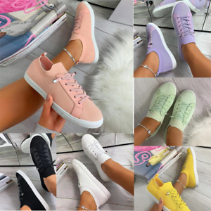 Women Walking Shoes Tennis Sneakers Casual Slip On Lightweight Breathable Flats