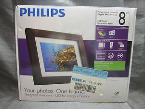 "Philips Home Essentials SPF3483/G7 8"" Digital Picture Frame - NEW in Box"