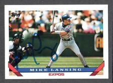 1993 TOPPS 99 T  Mike Lansing  MONTREAL EXPOS  SIGNED AUTOGRAPH AUTO COA