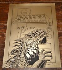 Queens of the Stone Age – Gold Iguana Signed and Numbered Gold 18X24 Poster
