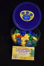 Three Bear Family Counters (Set Of 98) Different Weights Blue Red Green Yellow