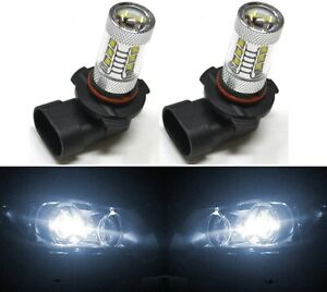 LED 80W 9006 HB4 White 5000K Two Bulbs Head Light Low Beam Show Use Replace